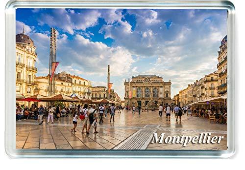 GIFTSTICY H211 Montpellier Aimant pour Le Frigo France Travel Fridge Magnet