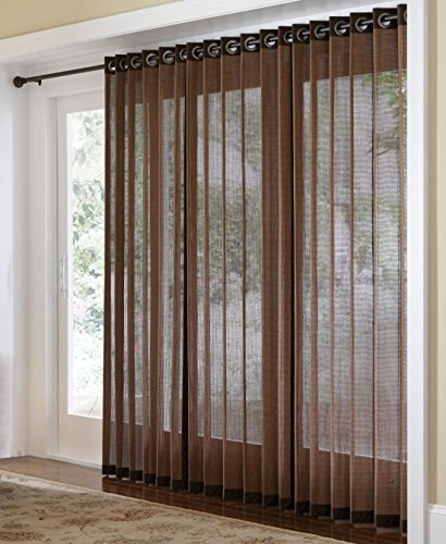 Naple Bamboo Grommet Top Panels for Sliding Glass Doors and Large - Doors For Sliding Bamboo Blinds