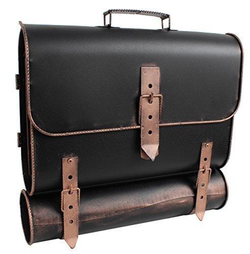 Großer Wand-Briefkasten außen   Postkasten als Schulranzen   Aktentasche mit Zeitungsfach   antik, Stahl - Made in Europe