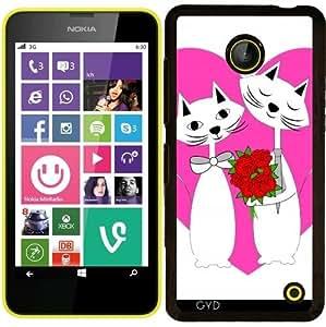 Funda para Nokia Lumia 630 - Gatos Lindos De San Valentín Del Corazón by Blingiton