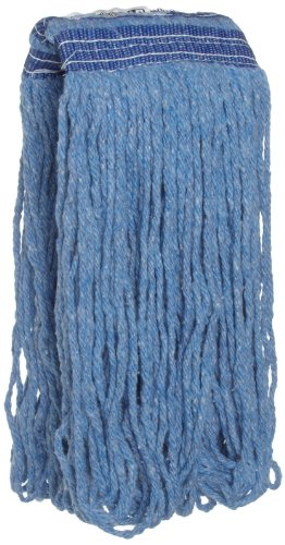 Rubbermaid Commercial FGE23600BL00 Universal Headband Wet Mop Head, Blue Blended Fiber, 16-ounce, Blue ()