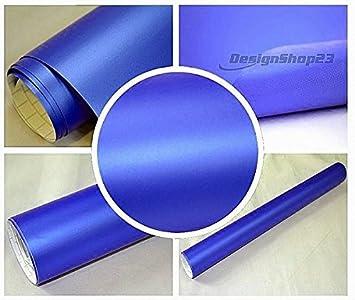 4 28 M Auto Folie Blau Metallic Matt 100 X 152 Cm Blasenfrei Selbstklebend Flexibel Car Wrapping Auto