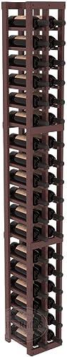 Wine Racks America Pine 2 Column Wine Cellar Kit. Walnut Stain Satin Finish
