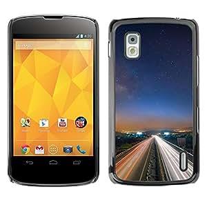 """For LG Nexus 4 E960 , S-type Naturaleza Hermosa Forrest Verde 13"""" - Arte & diseño plástico duro Fundas Cover Cubre Hard Case Cover"""