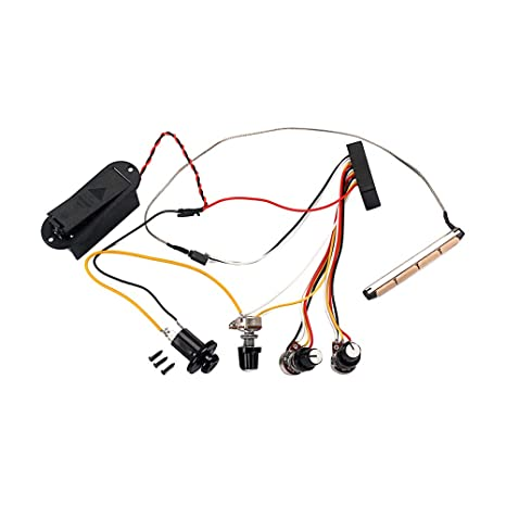 amazon com : gu52 preamp circuit bass guitar tone control wiring harness  for active bass pickup : sports & outdoors