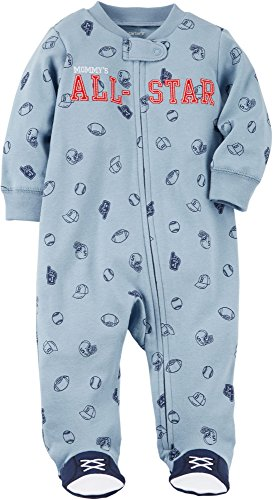 All Star Sports Clothes - Carter's Baby Boys' Zip up Mom All Star Cotton Sleep and Play 6 Months