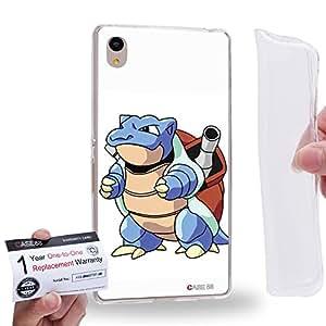 Case88 [Sony Xperia Z3+ / Z4] Gel TPU Carcasa/Funda & Tarjeta de garantía - Pokemon Pokemon Blastoise 0562