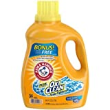 ARM & HAMMER Plus the Power of OxiClean Stain Fighers, Liquid Laundry Detergent, Clean Meadow 94.5 oz.