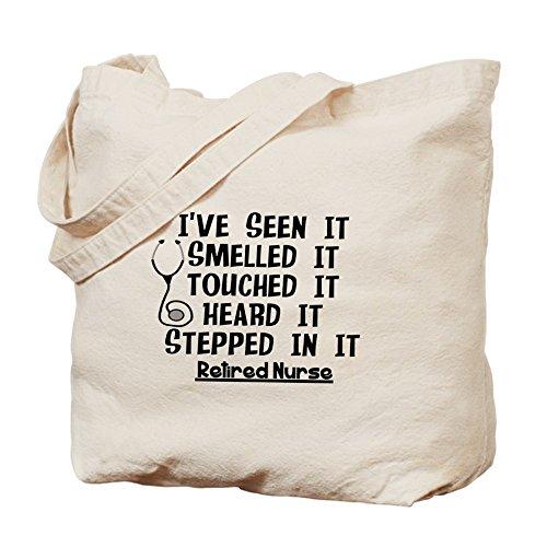 CafePress enfermera de–jubilación citas–Gamuza de bolsa de lona bolsa, bolsa de la compra