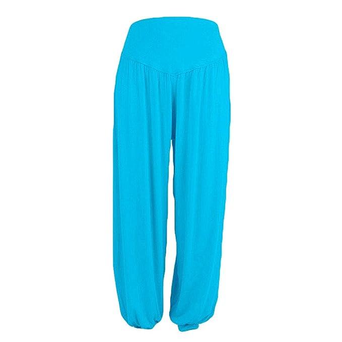 Pantalón Yoga Mujer Sueltos de Gran Tamaño y Color Sólido ...