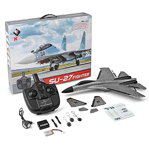Hisoul WLtoys A100 SU-27 RTF Glider 2.4G 3CH Built-in Six-axis Gyroscope RC Airplane for Beginners to Fly (Gray) by Hisoul (Image #7)