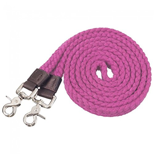 Tough-1 Pro Cotton Roping Rein Pink