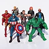Rosy Women The Avengers Hulk Captain America Iron Man Thor Black Widow Loki Hawkeye Pvc Action Figure 7Pcs/Set Toy Fga802