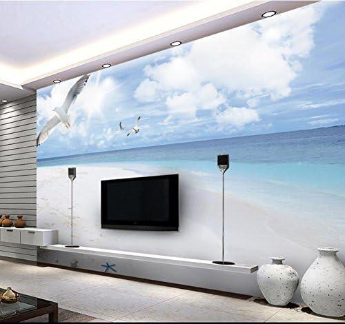 Art_wall_mural 3D Papel pintado Wallpaper Los Murales De Papel Tapiz De Playa Moderno Blue Sky 3D 3D Paredes De Papel Tapiz Wallpaper Para Pared Murales Telón De Tv Fresco Mural 200cmX150cm: Amazon.es: