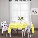yellow linen cabinet - Kingmerlina Cotton Linen Polyester Rectangle Fresh Pastoralism Kitchen Tablecloth Picnic Cloth (Yellow,55