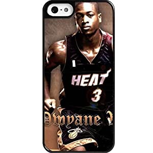 Custom Personalized NBA Miami Heat Team Star - Dwyane Wade iPhone 5 Case,iPhone 5s Case
