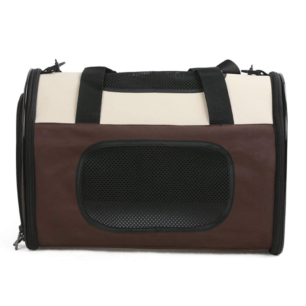 BROWN Pet Bag Outing Carrying Case Pet Folding Bag Pet Bag Backpack Bag Pet Pack 40  25  30cm_10kg (color   Brown)