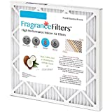 FragranceFilters Indoor Air Filter, Tropical Coconut, MERV 8, Box of 4 (16x1x25)