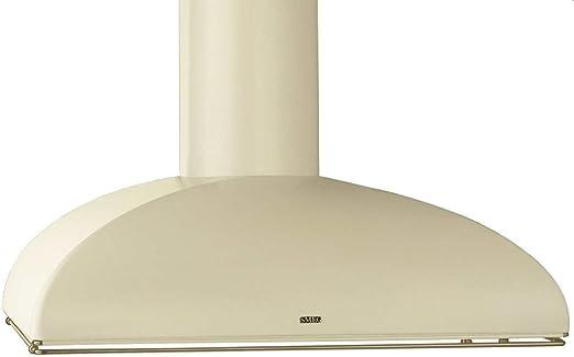Smeg KS89POE De pared Crema de color 820m³/h A - Campana (820 m³/h, Canalizado, A, A, C, 70 dB): Amazon.es: Hogar