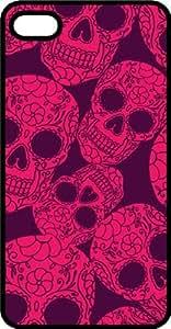 Pink Sugar Skulls Black Plastic Case for Apple iPhone 5 or iPhone 5s