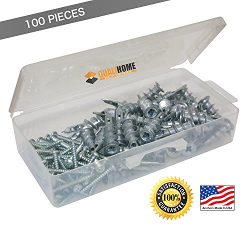 1-best-quality-zinc-self-drilling-drywall-anchors-with-screws-kit-100-pieces-all-together