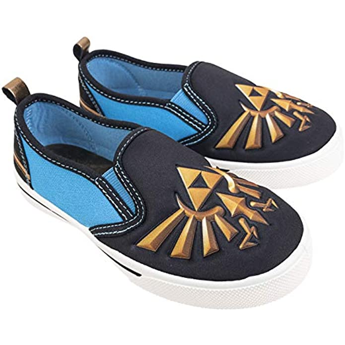 Zelda Nintendo Low Top Shoes,Slip On Sneakers Non-Marking Bottoms,Toddler Size 10 to Kids Size 3