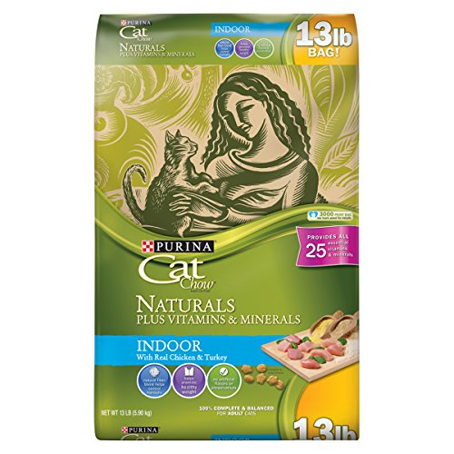 Purina Cat Chow Naturals Indoor Plus Vitamins & Minerals Adult Dry Cat Food - 13 Lb. Bag