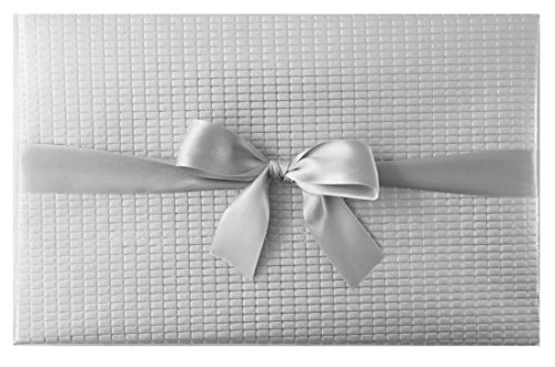 Marble+Vine BEST LUXURY ECO FRIENDLY GIFT WRAP : SILVER EMBOSSED PREMIUM (SET OF 2 ROLLS) - Luxury Wrapping Paper