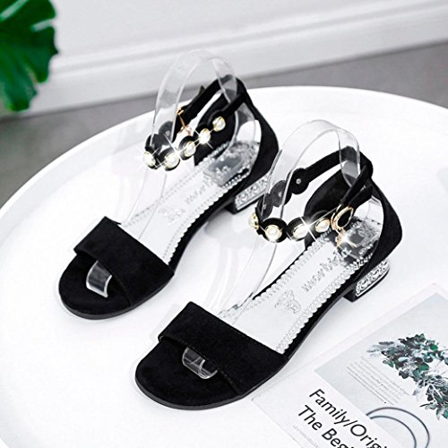 Fashion Rom Schuhe Rom Frauen Schwarz Flache Flache Peep Diamant Sommer Solid Ferse Strand Schuhe Stil Kristallsandalen Sandalen Niedrige Perle Sandalen Toe qXv4wcE