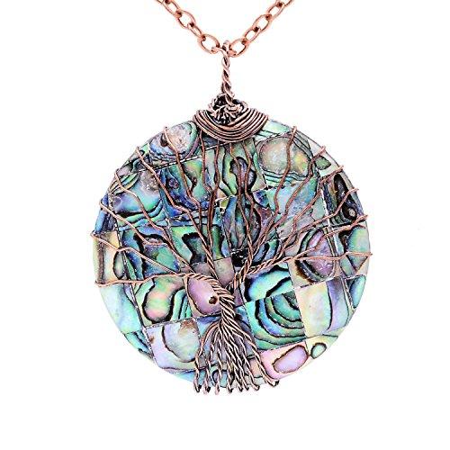 Sedmart Handmade Abalone Pendant Necklace