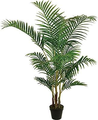 Best Artificial 5 pies 150 cm Areca palmera Tropical conservatorio oficina interior exterior jardín planta: Amazon.es: Hogar