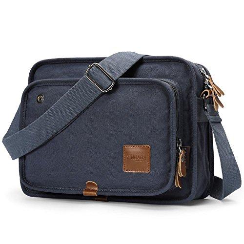 b459dfbce30 XINCADA Men Bag Messenger Bag Vintage Canvas Shoulder Bag School Bookbag  Satchel