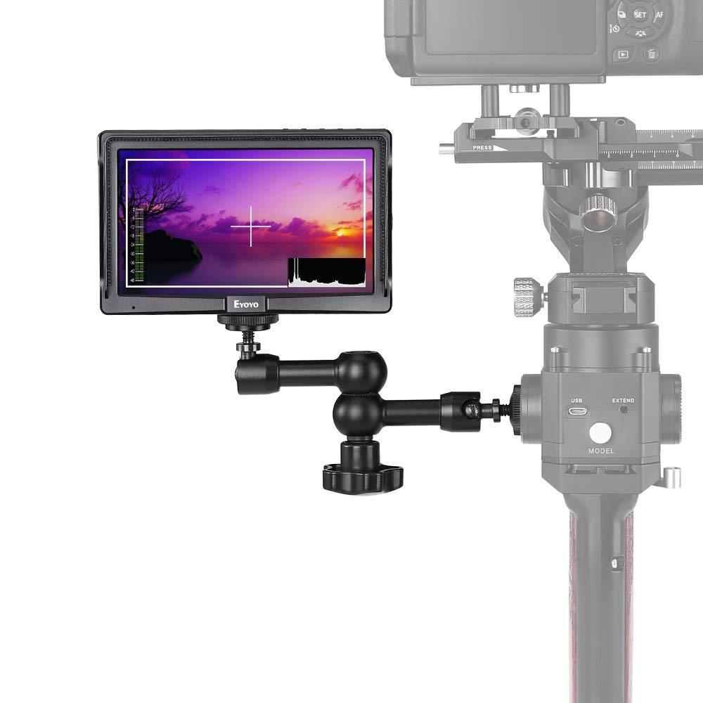 Eyoyo E5 5'' inch Field DSLR Camera Monitor, Portable Mini IPS On-Camera Video Monitor with Magic Arm Support 4K HDMI Signal Input and Output fit for Sony,Canon,Panasonic and DJI Ronin-s,Zhiyun,Feiyu by Eyoyo