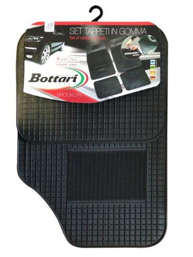 10 opinioni per Bottari 14058 Set Tappeti Auto Brooklyn in Gomma, Universali, Nero