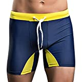 SUPERBODY Mens Sports Square Leg Swimsuit Surfing Swimming Boxer Brief Swimwear