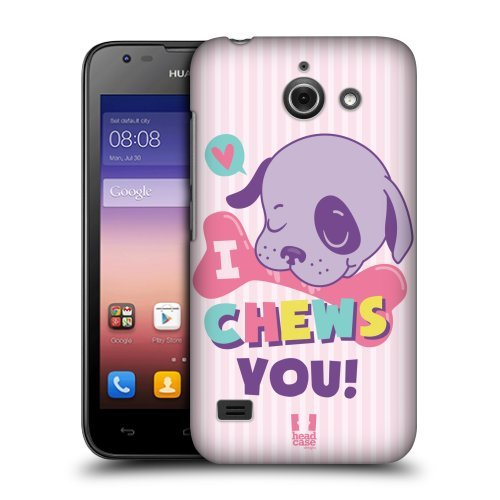 Head Case Designs Chews You Lovey Dovey Mishmash Protective Snap-on Hard Back Case Cover for Huawei Ascend Y550 LTE