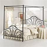 Hillsdale Furniture 348BKPR Dover King Canopy Bed, Textured Black