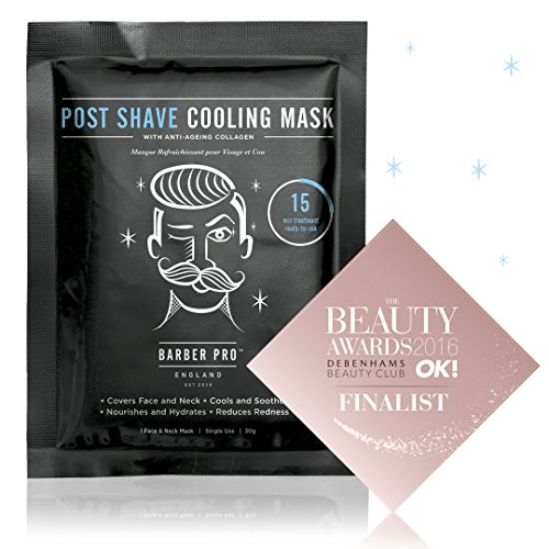 (BARBER PRO POST SHAVE COOLING MASK with anti-ageing collagen)