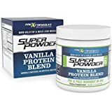 ProXFormulas Super Powder - Fat Burning Whey Protein Powder, Vanilla Taste With 6 Performance Enhancing Supplements In 1 Jar For Building Lean Muscle Mass, Pre And Post Workout - Money-Back Guarantee