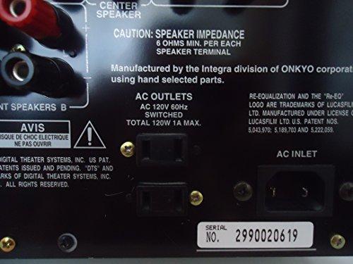 Onkyo Integra DTR-6 WRAT Wide Range Amplifier Technology AV Audio