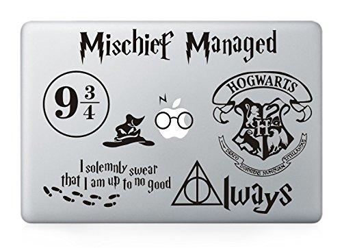 (Harry Potter Decal Set - Apple Macbook Laptop Vinyl Sticker Decal (Pack of)
