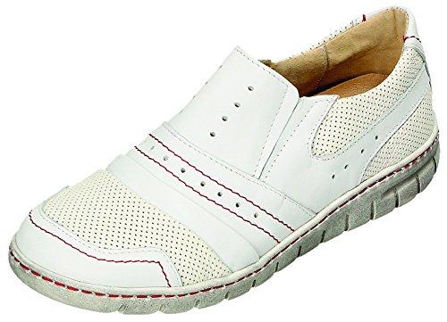 Miccos Chaussures de Ville à Lacets Pour Femme Blanc/Rouge blanc/rouge QcGie7bmc