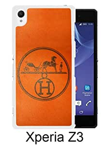 New Fashionable And Durable Designed Case For Sony Xperia Z3 With Hermes 8 White Phone Case