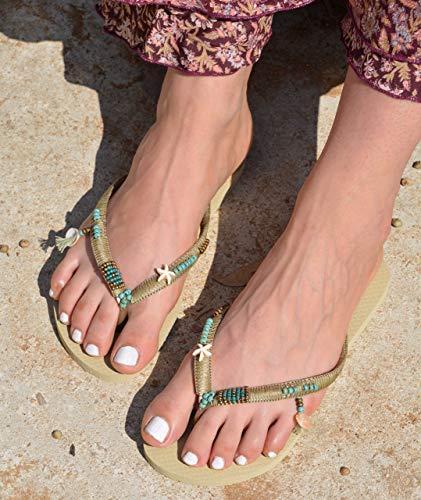 90fcc82f1 Amazon.com  Boho Women s Flip Flops