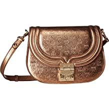 MCM Womens Trisha Monogrammed Leather Shoulder Small