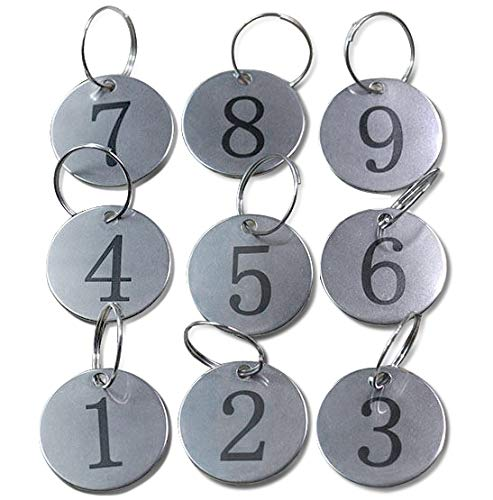Metal Round Numbered Tags Key Tags ID Tags 1.18 Inches (1-25)