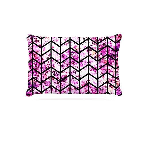 Kess InHouse Ebi Emporium Chevron Wonderland  Fleece Dog Bed, 50 by 60 , Pink Black