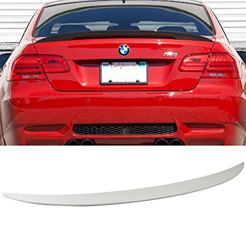 Pre-painted Trunk Spoiler Fits 2007-2013 BMW 3-Series E92   P Style ABS Painted Alpine White III #300 Rear Tail Lip Deck Boot Wing By IKON MOTORSPORTS   2008 2009 2010 2011 2012