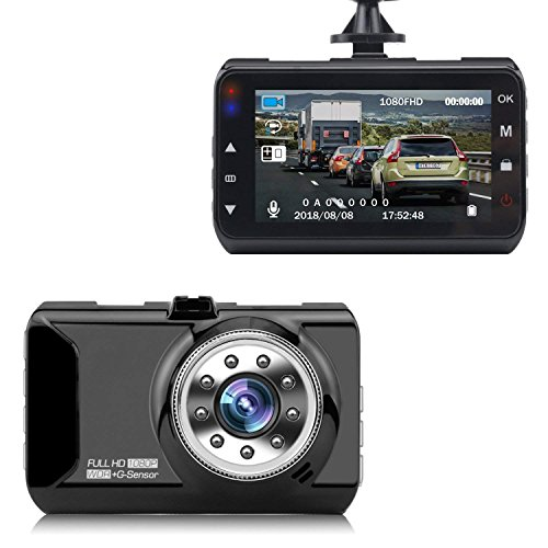 Car Dash Cam, Driving Recorder, coolsun Car Video Recorder Camera Full-HD 120 Wide Angle 2.5 inch TFT LCD Screen USB Charging Vehicle Video Camera Loop Recording with Night Vision by coolsun