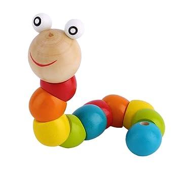 Zinniaya Twisty de Madera Wiggly Gusano sensorial niños niños ...